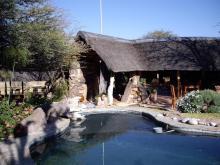 Lodge/Camp in Kalahari (nearby Botswana border)