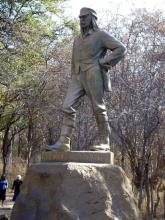 David Livingstone at Vic Falls