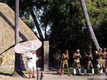 Traditional welcome - Vic falls